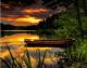 Картина по номерам Picasso Закат над лесным озером (PC4050493) -