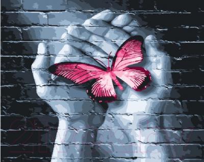 Картина по номерам Picasso Бабочка в руках (PC4050502)