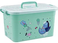 Ящик для хранения Полимербыт Радуга 80901 (бирюзовый) -