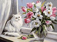 Картина по номерам БЕЛОСНЕЖКА Весна на окошке / 128-AS -