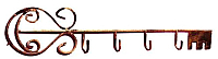 Вешалка для одежды Грифонсервис Ключ ВШ2 (бронза) -