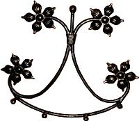 Вешалка для одежды Грифонсервис Улыбка ВШ6 (черный) -