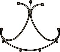 Вешалка для одежды Грифонсервис Улыбка-2 ВШ7 (черный) -