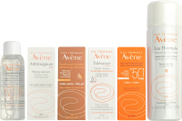 Набор косметики для лица Avene Термальная вода 50мл+5 мини-продуктов ежедневный уход -