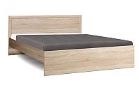 Двуспальная кровать Олмеко 21.53-01 с настилом (дуб сонома/дуб сонома) -