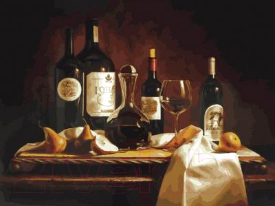 Картина по номерам БЕЛОСНЕЖКА Вино и груши / 317-AS