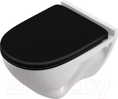Унитаз подвесной Sanita Luxe Attica Black SL / ATCSLWH0110