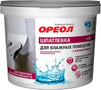 Шпатлевка Ореол Для влажных помещений с антисептиком (4кг) -