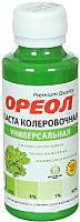 Колеровочная паста Ореол 12 (100мл, салатный) -