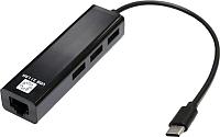 Сетевой адаптер 5bites UA3C-45-09BK (0.1м, черный) -
