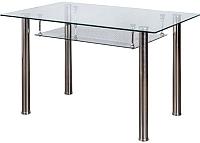 Обеденный стол Седия Dario (стекло/хром) -