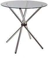 Обеденный стол Седия Selia 80x80 (хром/стекло) -