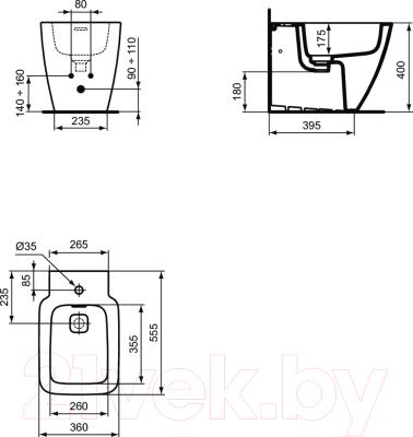 Биде напольное Ideal Standard Strada II T297101