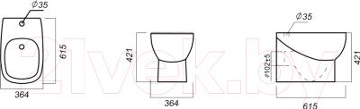 Биде напольное Sanita Luxe Infinity Quadro INFSLBI01