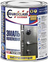 Эмаль Euroclass Молотковая (800г, вишневый) -