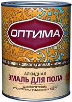 Эмаль Оптима Для пола (900г, красно-коричневый) -