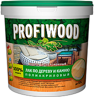 Лак Profiwood ВД по дереву и камню (2л, глянцевый) -