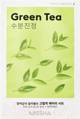 Фото - Маска для лица тканевая, 2 шт. Missha Airy Fit Sheet Mask Green Tea тканевая маска для лица с экстрактом зеленого чая airy fit sheet mask green tea 19г