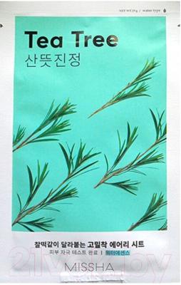 Фото - Маска для лица тканевая, 2 шт. Missha Airy Fit Sheet Mask Tea Tree тканевая маска для лица с экстрактом зеленого чая airy fit sheet mask green tea 19г