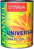 Эмаль Оптима ПФ-115 (900г, шоколадный) -