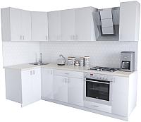 Готовая кухня Хоум Лайн Кристалл Люкс 1.2x2.7 (белый) -
