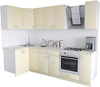 Готовая кухня Хоум Лайн Кристалл Люкс 1.2x2.7 (ваниль) -