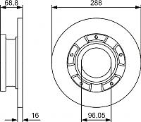 Тормозной диск Bosch 0986479A50 -