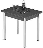Обеденный стол Импэкс Leset Лиль 1Р (металл хром/антрацит) -