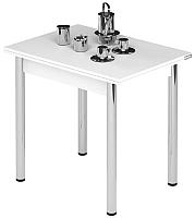 Обеденный стол Импэкс Leset Лиль 1Р (металл хром/белый) -