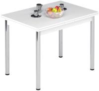 Обеденный стол Импэкс Марсель 1Р (металл хром/белый) -