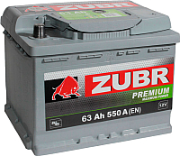 Автомобильный аккумулятор Zubr Premium New R+ (63 А/ч) -