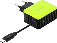Зарядное устройство сетевое Atomic U213M (черный/зеленый) -