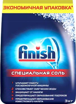 Соль для посудомоечных машин Finish Специальная (3кг)
