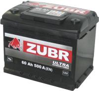 Автомобильный аккумулятор Zubr Ultra New R+ (60 А/ч) -