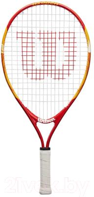 """Теннисная ракетка Wilson US OPEN 21"""" Junior 5-6 лет / WRT20310U (оранжевый/красный)"""