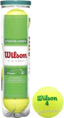 Набор теннисных мячей Wilson Starter Green Play / WRT137400