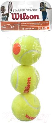 Набор теннисных мячей Wilson Starter Orange / WRT137300 (3шт)