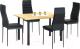 Обеденный стол Halmar Adonis 2 (дуб золотой/черный) -