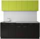 Готовая кухня Артём-Мебель Лана без стекла ДСП 1.8м (лайм/черный) -