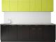 Готовая кухня Артём-Мебель Лана без стекла ДСП 2.6м (лайм/черный) -