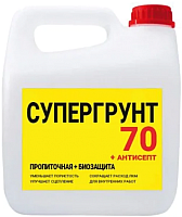 Грунтовка Super Decor Супергрунт 70 + Антисепт / ВД-АК-006 (1кг) -