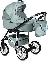 Детская универсальная коляска Alis Ontario Lux 2 в 1 (Ol 06,шалфей лен/шалфей кожа) -
