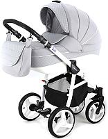 Детская универсальная коляска Adamex Avanti Deluxe 2 в 1 (X7/серый/серая кожа) -