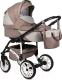 Детская универсальная коляска Alis Ontario 2 в 1 (On 02, бежевый/бежевый узор) -
