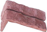 Декоративный камень Stone Mill Кирпич Старый угловой элемент ПГД-1-Л У605 (темная охра) -
