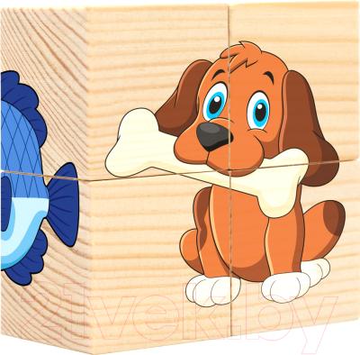 Развивающая игрушка Анданте Кубики. Домашние любимцы / RDI-D491а