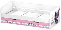 Двухъярусная кровать Polini Kids Fun 4200 Тролли (розовый) -