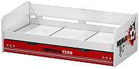 Двухъярусная кровать Polini Kids Fun 4200 (красный) -