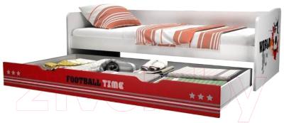Двухъярусная кровать Polini Kids Fun 4200 (красный)