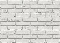 Декоративный камень Stone Mill Кирпич Лофтбрик угловой элемент ПГД-1-Л У100 (белый) -